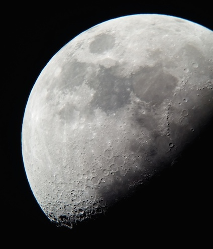 Moon's picture taken on April 8, 2014 by AST1011 student Blake Duffy